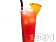 Рецепта Коктейл Малибу (Malibu Beach) с ром малибу, портокалов сок и сок боровинка